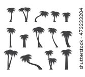 palm tree set. vector... | Shutterstock .eps vector #473233204