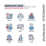 online education   modern... | Shutterstock .eps vector #473236444