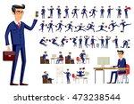 young cartoon businessman in...   Shutterstock . vector #473238544