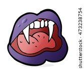 cartoon vampire lips | Shutterstock . vector #473238754