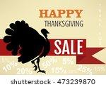 sale poster of happy... | Shutterstock .eps vector #473239870