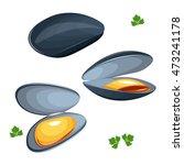 mussels vector illustration...   Shutterstock .eps vector #473241178