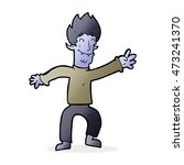 cartoon happy vampire man | Shutterstock . vector #473241370