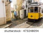 classic tram route 28 in alfama ... | Shutterstock . vector #473248054