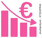 euro recession bar chart icon.... | Shutterstock . vector #473249944