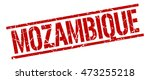 mozambique stamp. red square... | Shutterstock .eps vector #473255218