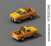 cartoon low polygon car 3d... | Shutterstock . vector #473257240