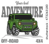off road suv car poster | Shutterstock .eps vector #473263180