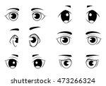 set of anime style eyes...