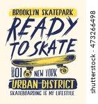 skateboard illustration with... | Shutterstock .eps vector #473266498