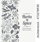 herbs and spices sketch... | Shutterstock .eps vector #473278930