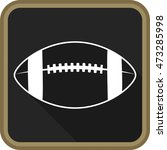 american football ball icon on... | Shutterstock .eps vector #473285998
