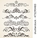 a collection of vintage style... | Shutterstock .eps vector #473290483