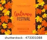 autumn festival background.... | Shutterstock .eps vector #473301088