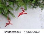 Two Red Polka Dot Ceramic Deer...