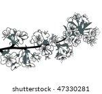 flower of cherry | Shutterstock .eps vector #47330281