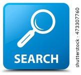 Search Cyan Blue Square Button