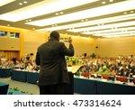 business man is making a speech ...   Shutterstock . vector #473314624
