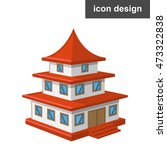 vector clipart icon old asian... | Shutterstock .eps vector #473322838