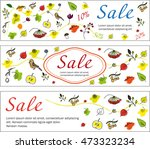 set of autumn colored banners.... | Shutterstock .eps vector #473323234