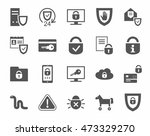 protection of information ... | Shutterstock .eps vector #473329270