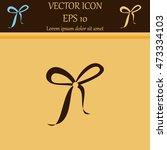 bow vector icon   Shutterstock .eps vector #473334103