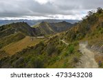 A Walking Path Of The Quilotoa...