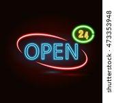 vector neon sign with type ...   Shutterstock .eps vector #473353948
