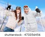 skiing. | Shutterstock . vector #473356456