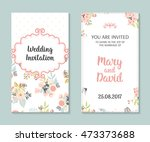wedding set. romantic vector... | Shutterstock .eps vector #473373688