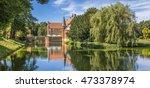 panorama of burg hulshoff near... | Shutterstock . vector #473378974
