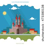 cityscape. medieval castle in... | Shutterstock .eps vector #473380138