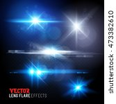 a set of lens flares and sun... | Shutterstock .eps vector #473382610