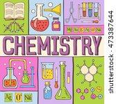 creative chemistry hand drawn... | Shutterstock .eps vector #473387644