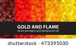 "pentagon pattern set ""gold and... 