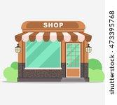 street shop building facade ...   Shutterstock .eps vector #473395768