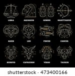 zodiacal and astrological... | Shutterstock .eps vector #473400166