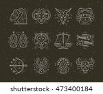 collection of thin line... | Shutterstock .eps vector #473400184