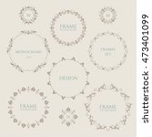 set of round frames and... | Shutterstock .eps vector #473401099