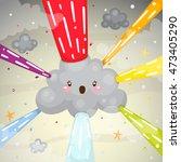 rainbow explosion  overcast ...   Shutterstock .eps vector #473405290