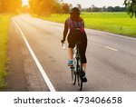 asian women cycling on the road ... | Shutterstock . vector #473406658