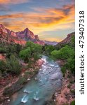 zion national park  virgin... | Shutterstock . vector #473407318