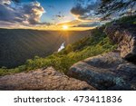West Virginia, Beauty Mountain, scenic sunset