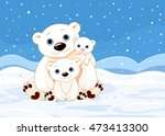 illustration of a polar bear... | Shutterstock .eps vector #473413300