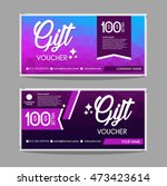 gift voucher template with... | Shutterstock .eps vector #473423614