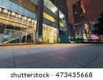 traffic light trails in modern... | Shutterstock . vector #473435668
