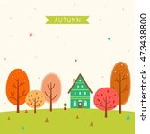 the house of the forest in... | Shutterstock .eps vector #473438800