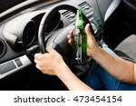 the drunk driver driving the car | Shutterstock . vector #473454154
