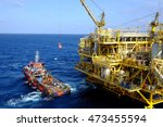 offshore oil and gas cargo... | Shutterstock . vector #473455594