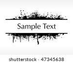 flourish and grunge elements... | Shutterstock .eps vector #47345638